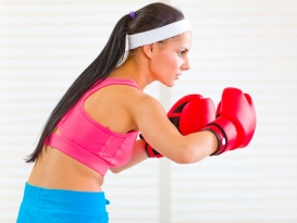 Lady boxing